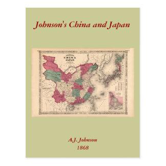 1868 Map - Johnson's China and Japan Postcards