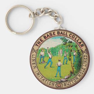 1868 Vintage Baseball Collar Logo Key Chain