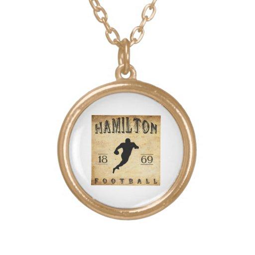 1869 Hamilton Ontario Canada Football Necklaces