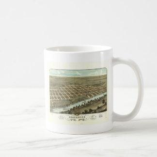 1869 Shakopee, MN Birds Eye View Panoramic Basic White Mug
