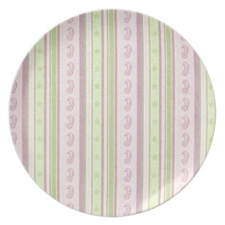186__fish-tales-paper-1 PASTEL PINKS MAUVES GREENS Dinner Plates