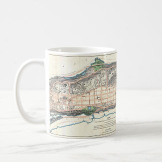 1870 Northern Manhattan Map Mug