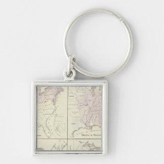 1870 United States census maps Key Ring