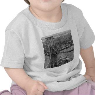 1870s New York City Brooklyn Bridge Construction T Shirts
