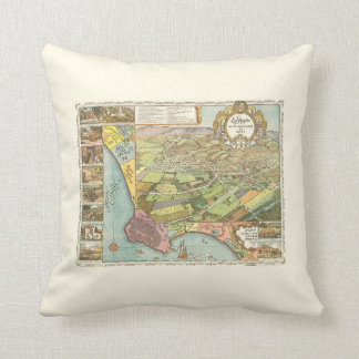 1871 Los Angeles - Throw Pillow