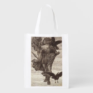 1871 Odin, Norse God of War Reusable Grocery Bag