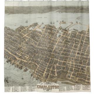 1872 Charleston Map Shower Curtain