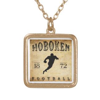 1872 Hoboken New Jersey Football Custom Necklace