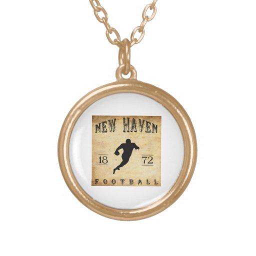 1872 New Haven Connecticut Football Pendant