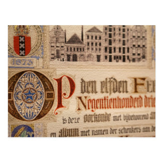 1873 Antique Certificate Vintage Paper Postcard