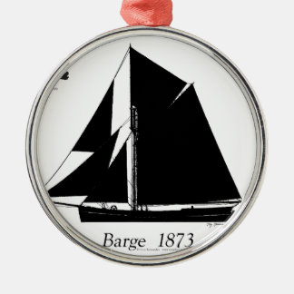 1873 Barge - tony fernandes Christmas Ornament
