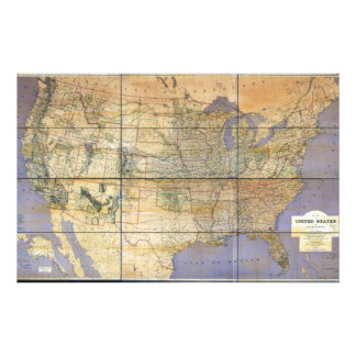 1873 Map of the United States and Territories Personalized Stationery