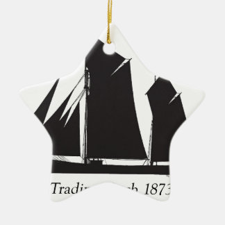 1873 trading ketch - tony fernandes christmas ornament