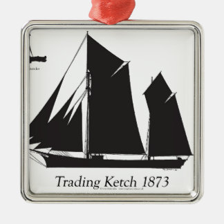 1873 trading ketch - tony fernandes christmas ornament