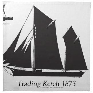 1873 trading ketch - tony fernandes napkin