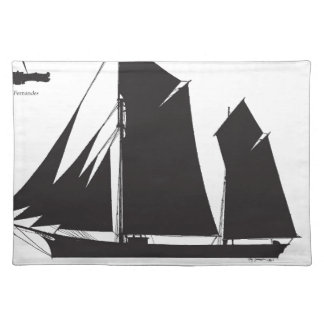 1873 trading ketch - tony fernandes placemat