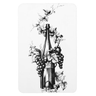 1873 Vintage Wine Bottle with Grapes and Leaves Vinyl Magnet