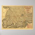 1874 Brooklyn Rail Map Poster