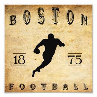 1875 Boston Massachusetts Football Art Photo