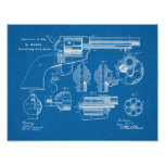 1875 Gun Revolver Patent Art Drawing Print