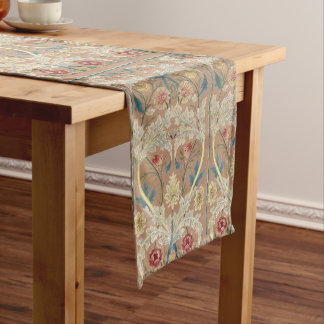 1875 Vintage William Morris Floral Embroidery Short Table Runner