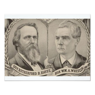 1876 Hays - Wheeler 11 Cm X 14 Cm Invitation Card