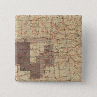 1876 Progress Map of The US Geographical Surveys 15 Cm Square Badge