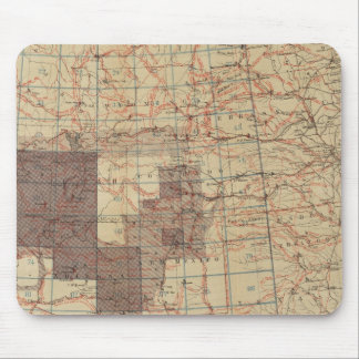 1876 Progress Map of The US Geographical Surveys Mouse Mat