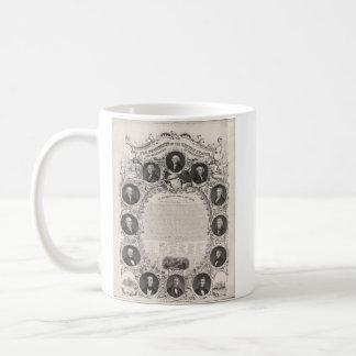 1876 Reproduction The Declaration of Independence Basic White Mug