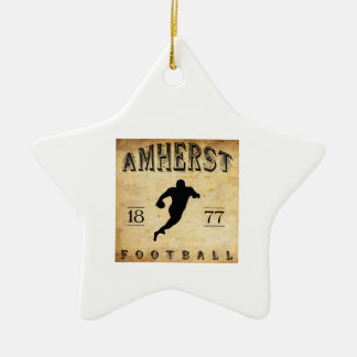 1877 Amherst Massachusetts Football Christmas Ornament