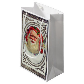 1878: A Victorian Christmas greetings card Small Gift Bag