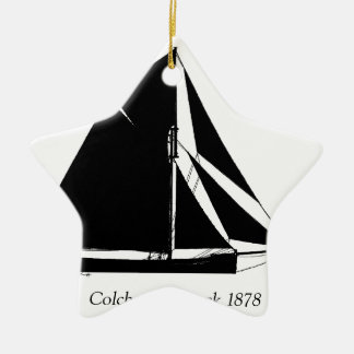 1878 Colchester Smack - tony fernandes Christmas Ornament