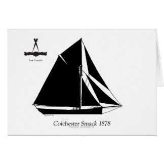 1878 Colchester Smack - tony fernandes Greeting Card