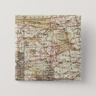 1878 Progress Map of The US Geographical Surveys 15 Cm Square Badge