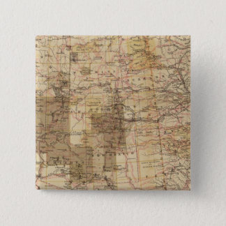 1878 Progress Map of The US Geographical Surveys 2 15 Cm Square Badge