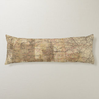 1878 Progress Map of The US Geographical Surveys 2 Body Cushion