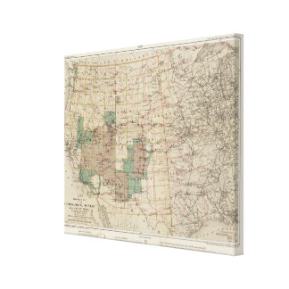1878 Progress Map of The US Geographical Surveys 2 Canvas Print
