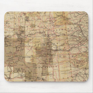 1878 Progress Map of The US Geographical Surveys 2 Mouse Mat