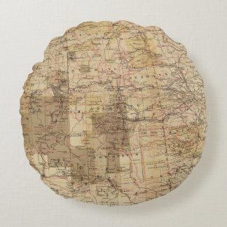 1878 Progress Map of The US Geographical Surveys 2 Round Cushion