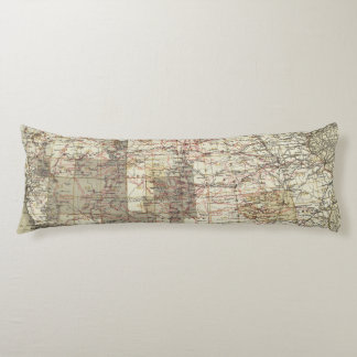 1878 Progress Map of The US Geographical Surveys Body Cushion