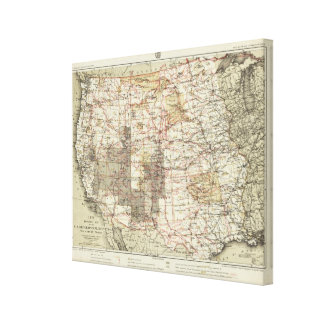 1878 Progress Map of The US Geographical Surveys Canvas Print