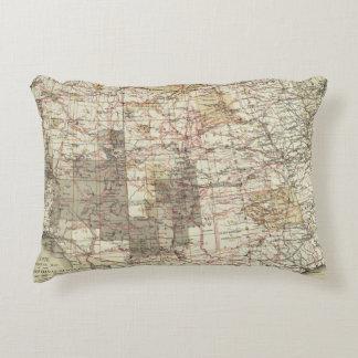 1878 Progress Map of The US Geographical Surveys Decorative Cushion