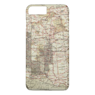 1878 Progress Map of The US Geographical Surveys iPhone 8 Plus/7 Plus Case