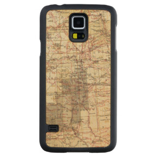 1878 Progress Map of The US Geographical Surveys Maple Galaxy S5 Case