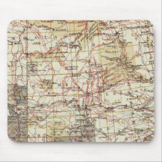 1878 Progress Map of The US Geographical Surveys Mouse Mat
