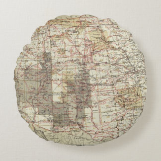 1878 Progress Map of The US Geographical Surveys Round Cushion