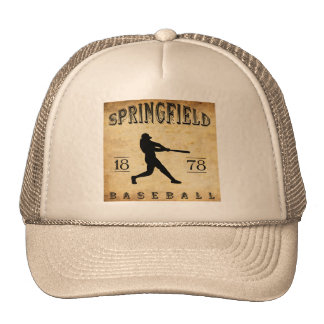 1878 Springfield Massachusetts Baseball Cap