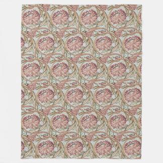 1878 Vintage William Morris Flowerpot Fleece Blanket