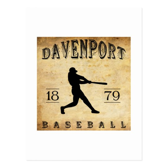 1879 Davenport Iowa Baseball Postcard