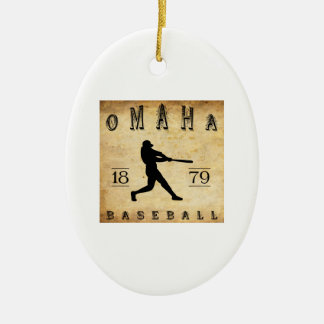 1879 Omaha Nebraska Baseball Christmas Ornament